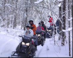 wilderness snowmobiling